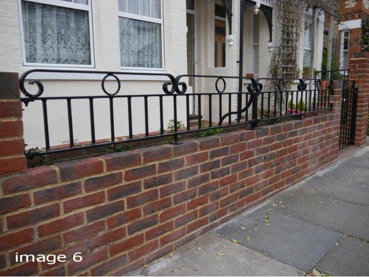 Decorative flat top railings