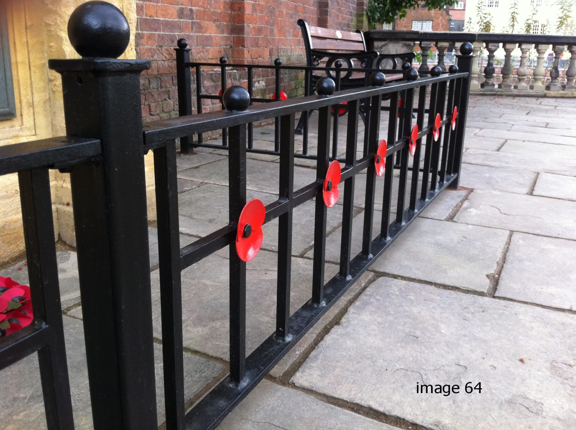 Bespoke poppy railings