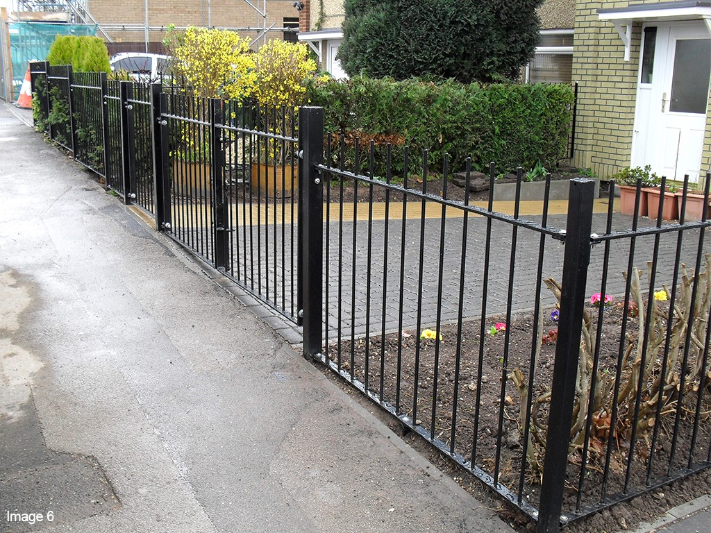 Vertical Bar Railings, galvanized and powder coated mild steel