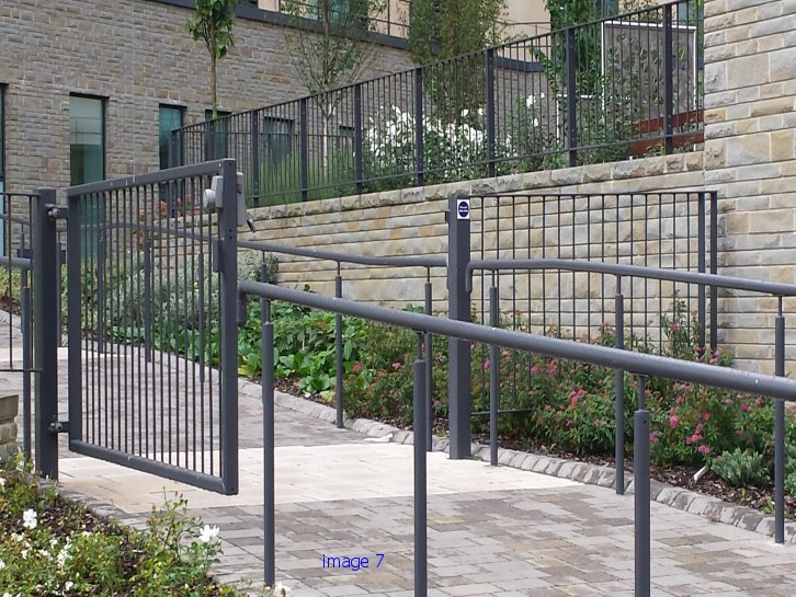 Mild steel flat top railings and handrails