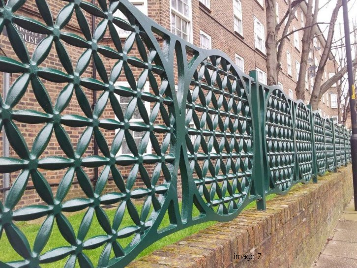 Decorative bespoke metal railings