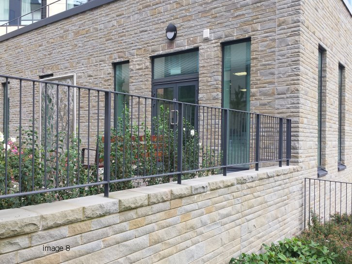 Mild steel flat top railings