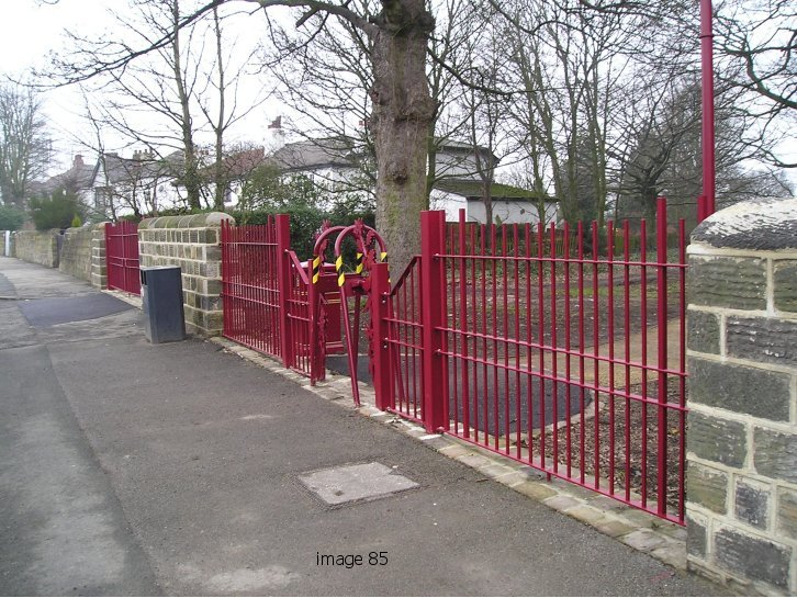 Decorative vertical bar railings and gates