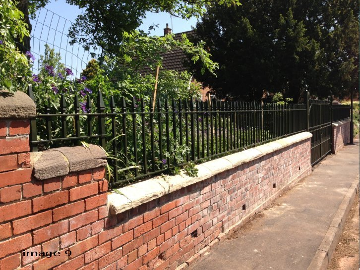 Mild steel galvanised and powder coated flat top railings