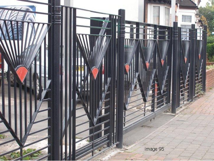 Bespoke decorative railings and gate