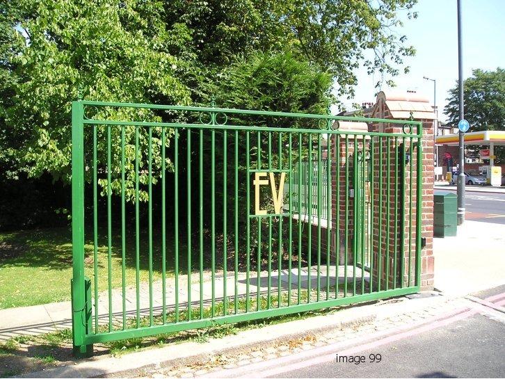 Mild steel bespoke gate with emblem
