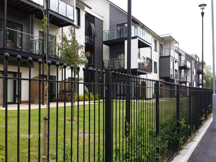 decorative vertical bar railings galvanized and powder coated mild steel