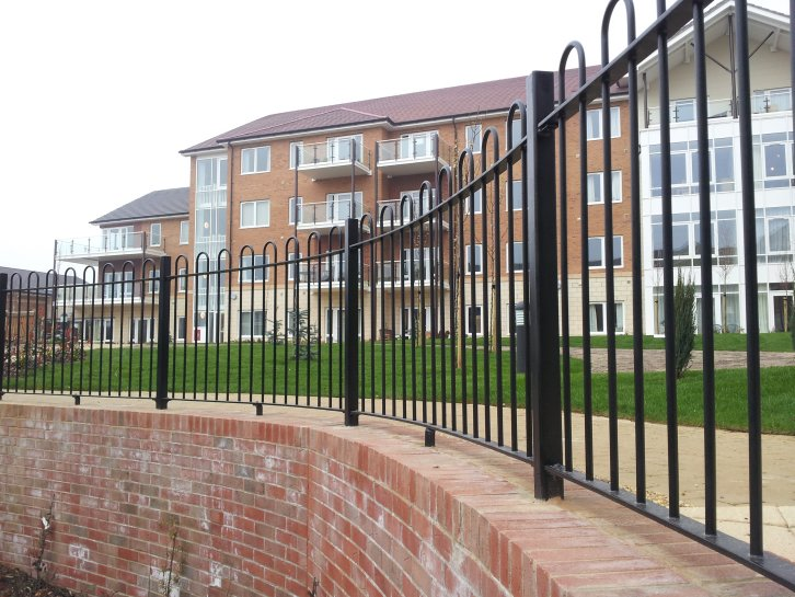 galv and powder coated bow top railings