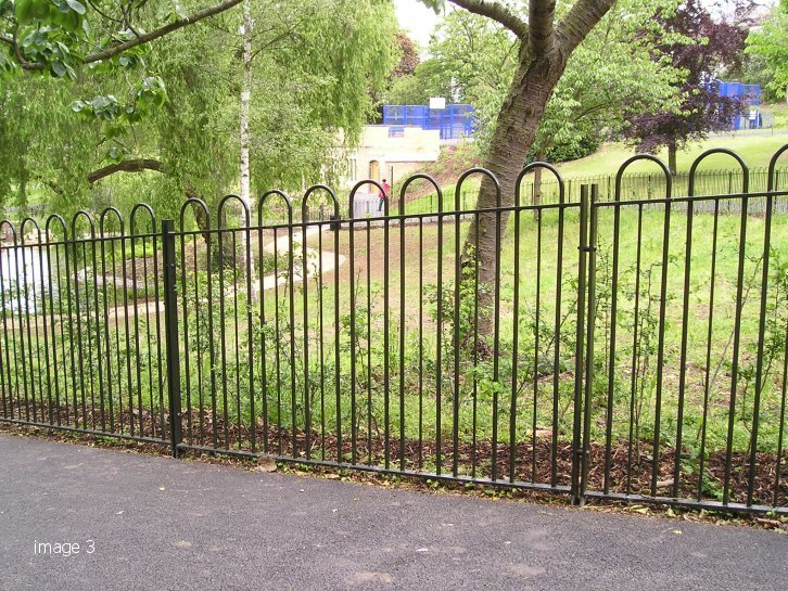 Galvanized and powder coated bow top railings