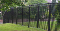 Galvanised and powder coated humber style metal railings