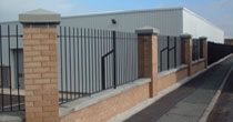Galvanised and powder coated vertical bar metal railings
