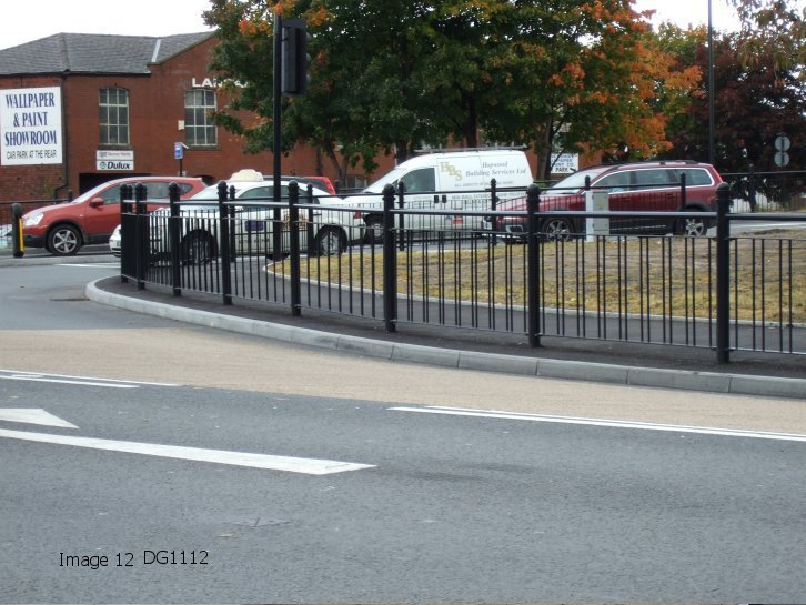 Mild steel decorative pedestrian guardrail