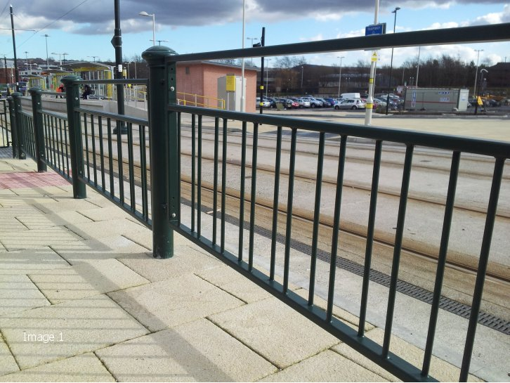 Decorative railings decorative pedestrian guardrail Decorative railings