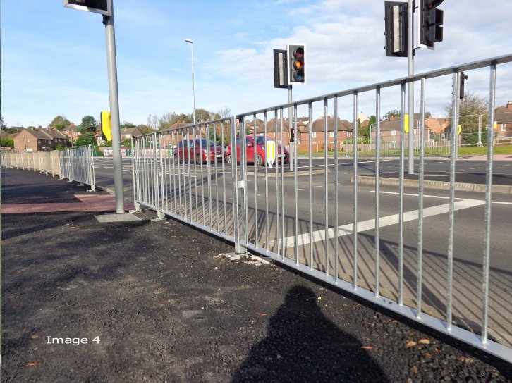 Galvanised Optirail pedestrian guardrail