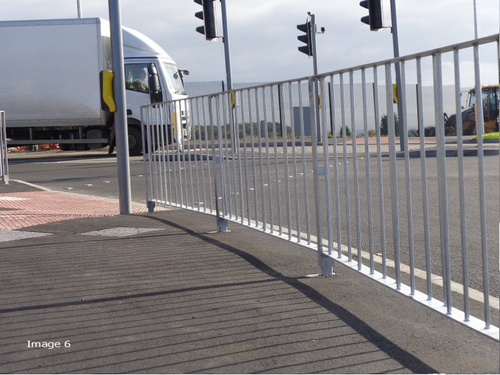 Optirail pedestrian guardrail