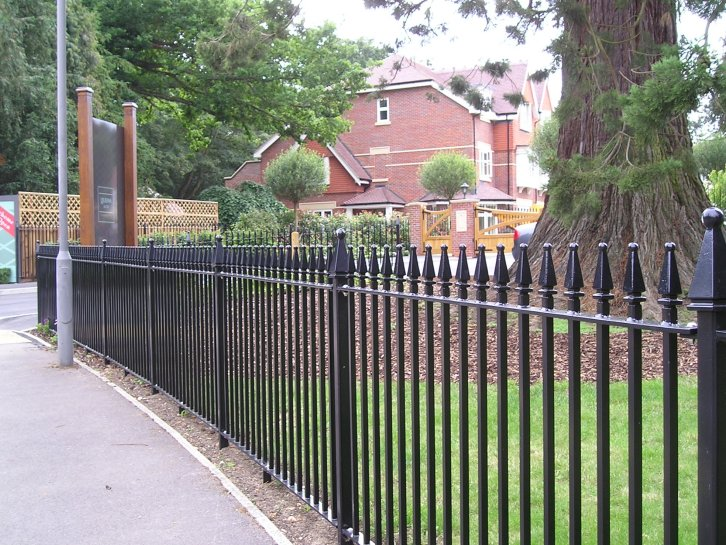 steel vertical bar railings