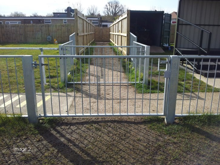 Galvanised sport pitch barriers