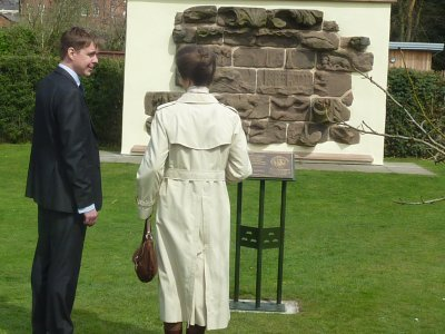 galvanized and powder coated Martyr's Plaque Beacon Park at the official unveiling by HRH The Princess Royal