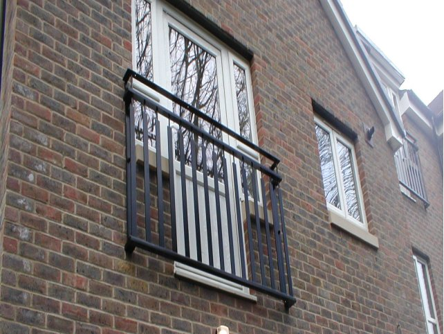 galvanized and powder coated bespoke Juliette Balcony which are compliant with Building Regulations