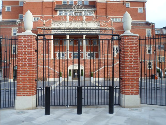 galvanized and polyester powder coated mild steel decorative railings and gates which are complaint to BS 1722 Part 9.
