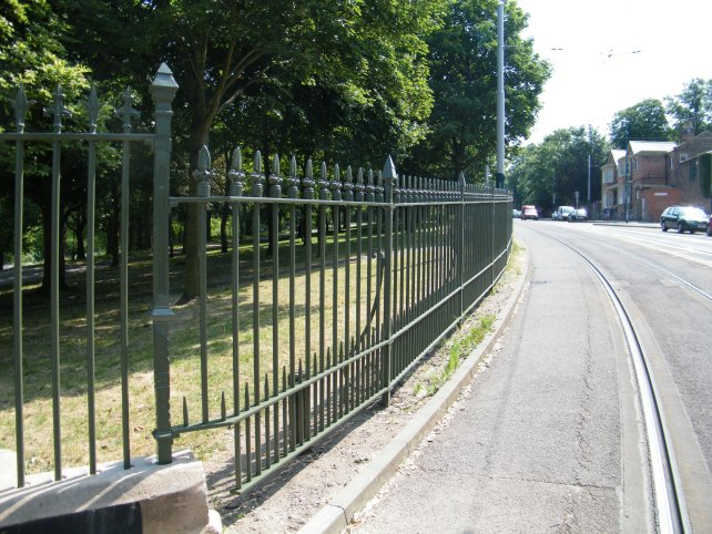 galvanized and powder coated mild steel decorative boundary railings which are complaint to BS 1722 Part 9.