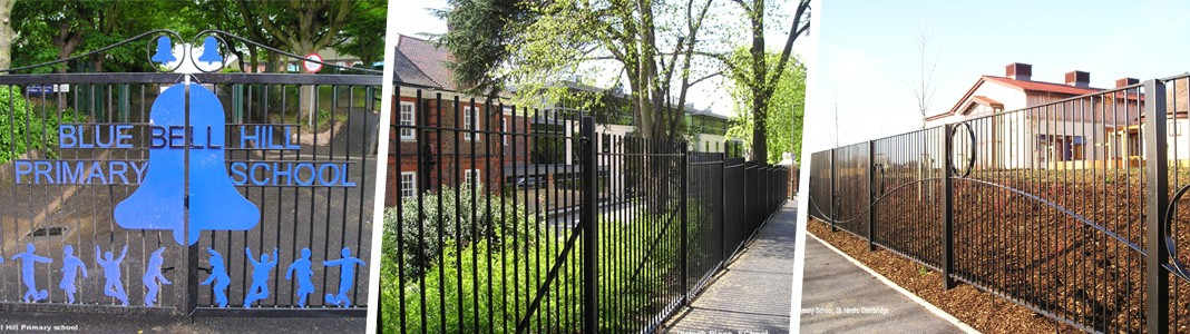 galvanized and powder coated mild steel standard and decorative railings which are complaint to BS 1722 Part 9.