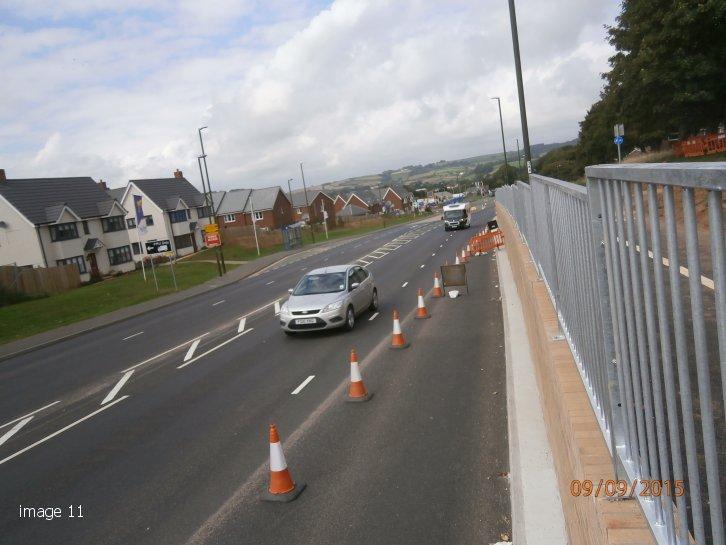 mild steel galvanized M1 Pedestrian Guardrail - Brixham Road, Paignton