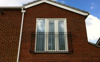 galvanized and polyester powder coated Rufford style juliette balcony compliance with Building regulations