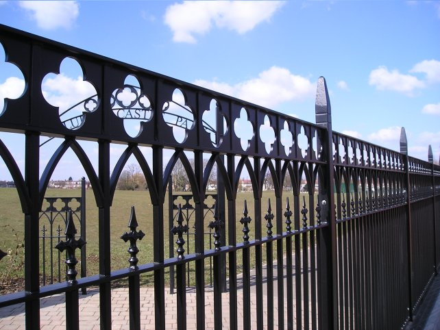 Caludon castle metal railings