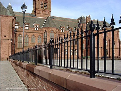 Metal Railings at Market Square Barrow in Furness