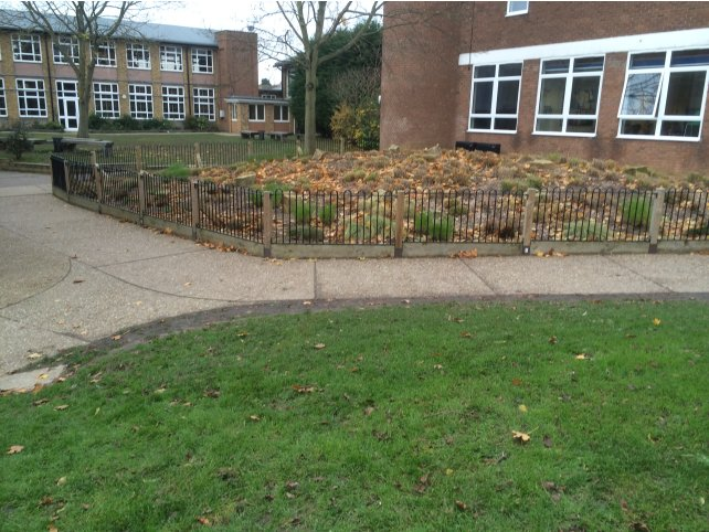Metal railings at Thurstable School