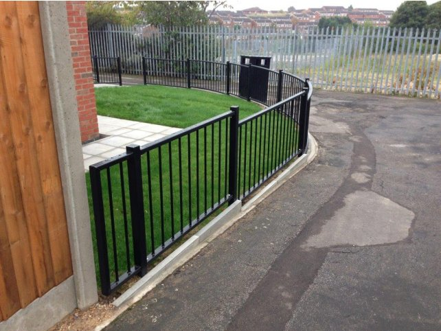 Galvanized and polyester powder coated mild steel flat top railings