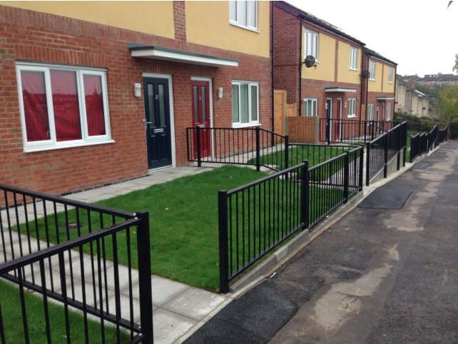 mild steel galvanized and polyester powder coating flat top railings