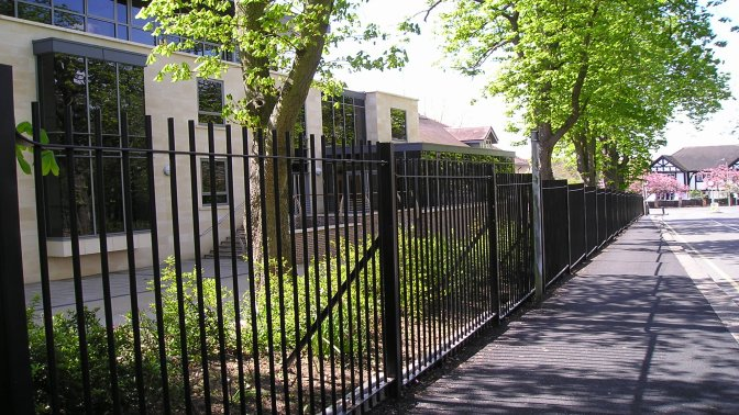 mild steel galvanized and powder coated vertical bar railings