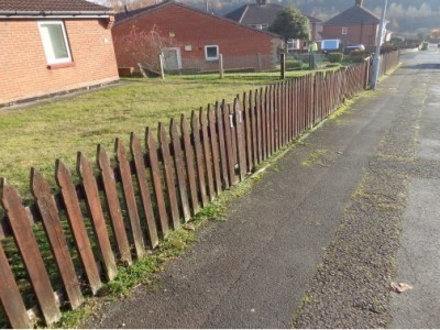 metal railings v wooden fencing