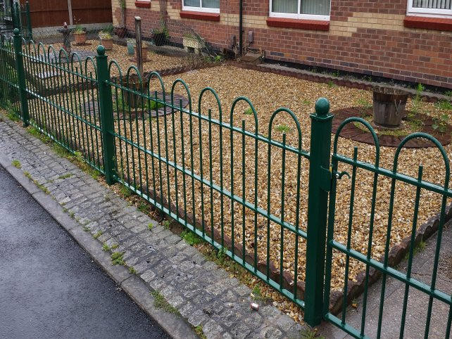 Metal railings gates improve outlook for clipstone Decorative railings