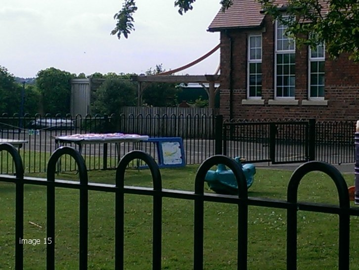 Galvanised and powder coated Playspec bow top railings