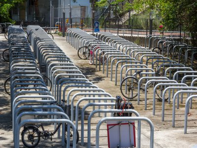 galvanized cycle stands