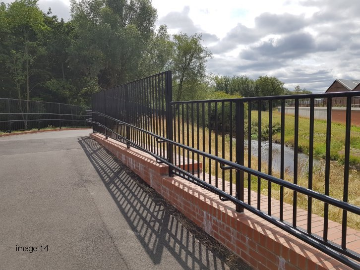 Pedestrian Parapet Guardrail at Selly Park