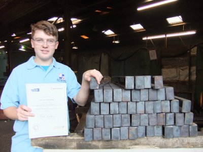 Adam Briggs, apprentice at Alpha Rail