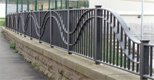 Metal railings for commercial projects