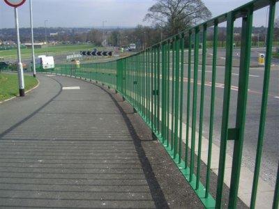 High visibility pedestrian guardrail