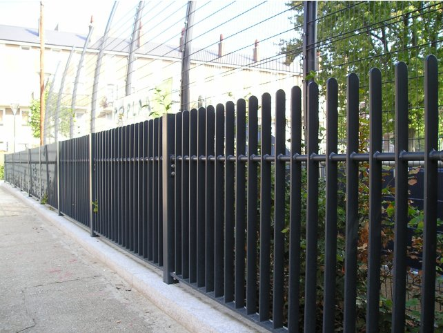 Decorative flat bar infill railings