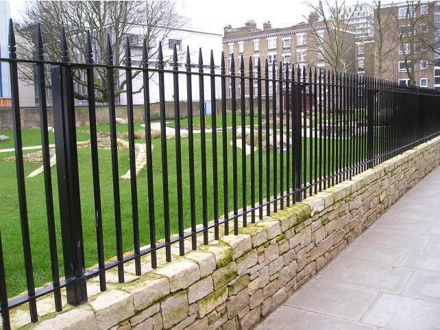 Mild steel powder coated Westminster style railings