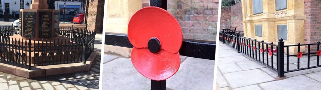War memorial railings
