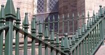 Churchill vertical bar metal railings
