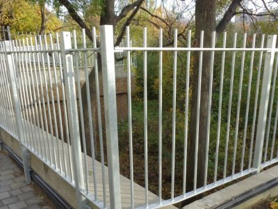 Mild steel vertical bar railings