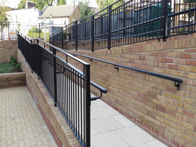 Galvanised and powder coated balustrade