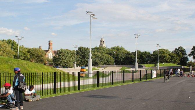 bmx track Burgess Park