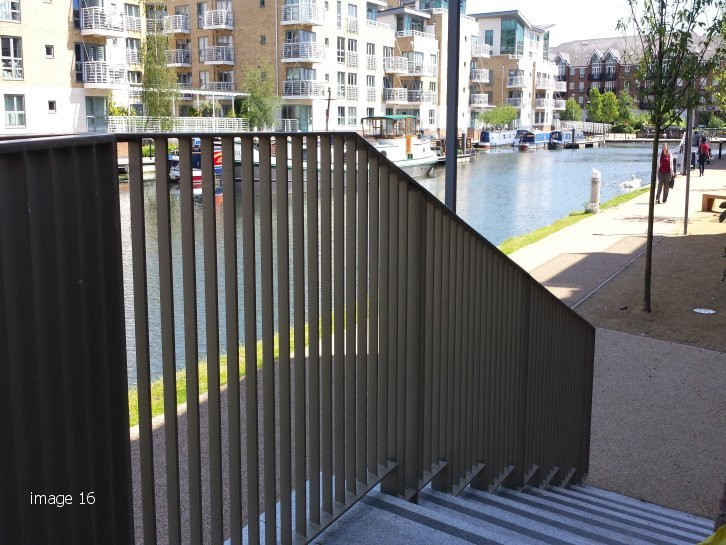 mild steel galvanized and powder flat bar infill railings